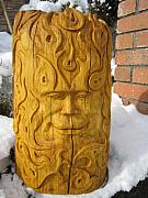Oak Reliefs - Sun and Moon Carving by Braven Smillie