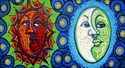 Relationships Paintings - Sun and Moon by Genevieve Esson