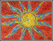 Sun Rays Painting Prints - Sun Print by Ankita Ghosh