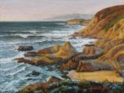 Tide Pastels Prints - Sun-Bathed Solitude Print by Debbie Harding