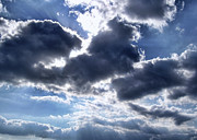 Sun Breaking Through The Clouds Print by Mariola Bitner