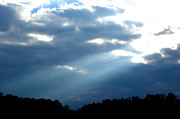 Dark Skies Metal Prints - Sun breaks through Stormy Sky Metal Print by Thomas R Fletcher