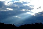 Sun Breaks Through Stormy Sky Print by Thomas R Fletcher