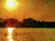 Lakes Digital Art - Sun Burned by Jeff Kolker