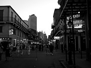 Judy Hall-folde Posters - Sun Coming Down on Bourbon Street Poster by Judy Hall-Folde