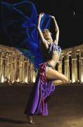 Belly Dance Posters - Sun Court Dancer Poster by Richard Young
