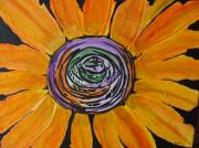 Flower Center Paintings - Sun Dance by Beverly Livingstone