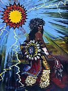 Fancy-dancer Metal Prints - Sun Dancer Metal Print by Karon Melillo DeVega