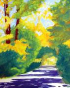 Dappled Light Posters - Sun Dappled Road Poster by Antony Galbraith