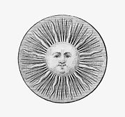 1751 Framed Prints - Sun Face, Decorative, 1751 Framed Print by Granger