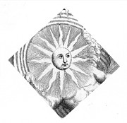 Sunface Prints - Sun Face, Decorative Print by Granger
