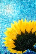 Masterpiece Mixed Media Prints - Sun Flower Print by Desiree Soule