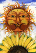 African-american Mixed Media Prints - Sun flower1 Print by Anthony Burks