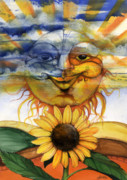African-american Mixed Media Prints - Sun flower2 Print by Anthony Burks