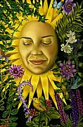 Goddesses Framed Prints - Sun Goddess Framed Print by Pamela Wells