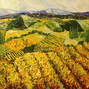 Interior Design Painting Posters - Sun Harvest Poster by Allan P Friedlander