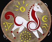 Drums Paintings - Sun Horse by Kathryn Gordon