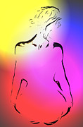 Lovers Digital Art - Sun in her life by Stefan Kuhn