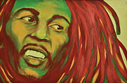 Derek Donnelly Painting Originals - Sun is shining Bob Marley by Derek Donnelly