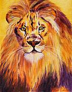 Feline Paintings - Sun Kissed Boy by Wendi Evans