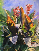 Brilliant Paintings - Sun Kissed Cannas by DJ Bates