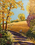 Fall Pastels - Sun-Kissed Trail by Carol OMalley