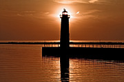 Awesome Photo Originals - Sun-Lighthouse by Jeramie Curtice