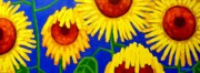 Blue  Yellow Paintings - Sun Lovers by John  Nolan