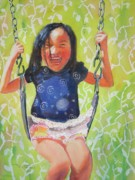 Swing Paintings - Sun Loves to Swing by Pixie Glore
