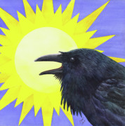 Sky Framed Prints - Sun Raven Framed Print by Catherine G McElroy