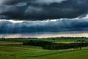 Matt Dobson Metal Prints - Sun Rays and  Countryside Metal Print by Matt Dobson