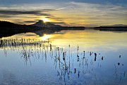 """blue Sunset"" Prints - Sun reflections Print by Guido Montanes Castillo"