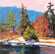 Sun River Paintings - Sun River Color Dance by Susan F Greaves
