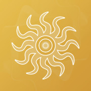 Yellow Chakra Posters - Sun Salutation Poster by Sallie Keys