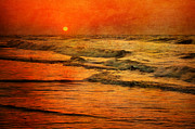 Beach Sunsets Framed Prints - Sun Set Framed Print by Emily Stauring
