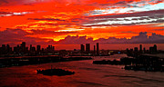 Ronald  Bell - sun set red Miami 230