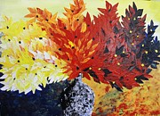 Pallet Knife Prints - Sun Shine Bouquet Print by Shilpi Singh