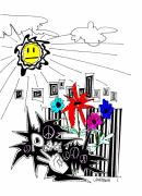 Peace Drawings - Sun Shiny Day by Teddy Campagna