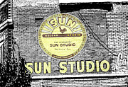 Tennessee Landmark Mixed Media Framed Prints - Sun Studios Framed Print by Rick Thiemke