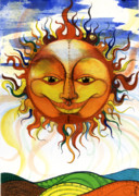 African-american Mixed Media Prints - Sun2 Print by Anthony Burks