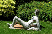 Nudes Sculptures - Sunbather by Katia Weyher