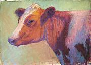 Farm Animals Pastels Prints - Sunbather Print by Susan Williamson
