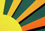 Opposite Colors Posters - Sunbeams Poster by Christi Kraft