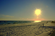 Florida Panhandle Photo Posters - Sunburst at Henderson Beach Florida Poster by Susanne Van Hulst