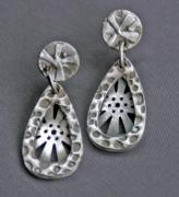 Post Jewelry - Sunburst fine silver post earrings by Mirinda Kossoff