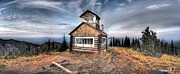 Glenn Barclay Framed Prints - Sunburst Fire Tower Framed Print by Glenn Barclay
