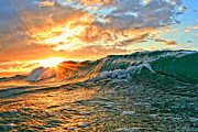Laniakea Beach Prints - Sunburst Print by Paul Topp