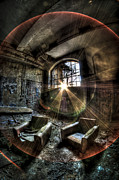 Disused Framed Prints - Sunburst sofas Framed Print by Nathan Wright