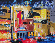 Fort Worth Painting Prints - Sundance Square Fort Worth Print by Barbara Sudik