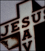 Jesus Digital Art Framed Prints - Sunday Advertisement - Church Street Rural America    Framed Print by Steven  Digman
